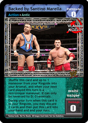 Backed by Santino Marella