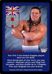 British Bulldog Superstar Card