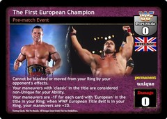 The First European Champion
