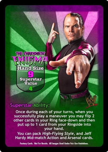 The Charismatic Enigma Superstar Card