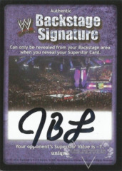 WWE Backstage Signature - JBL