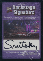 WWE Backstage Signature - Gene Snitsky