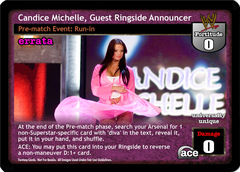 Candice Michelle, Guest Ringside Announcer