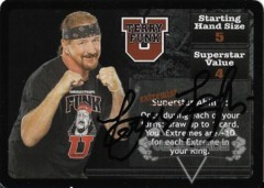 <i>Revolution</i> Terry Funk Superstar Card - Signed by Terry Funk