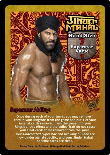 Jinder Mahal Superstar Card - VSS