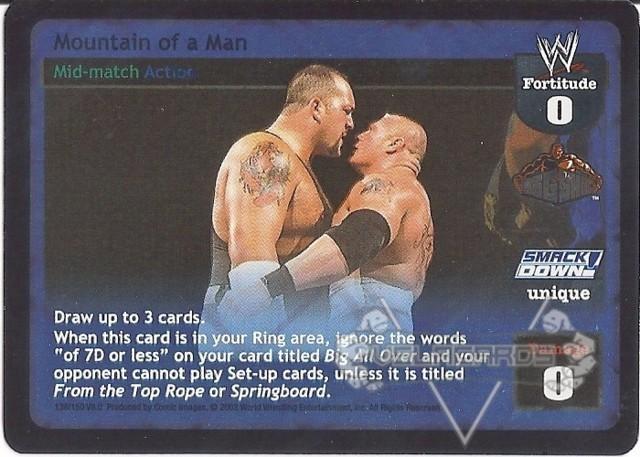 mountain of a man wwe raw deal superstars big show velacards