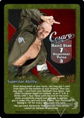 Cesaro Superstar Card - VSS (2)