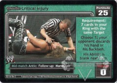 <i>Revolution</i> Critical Injury