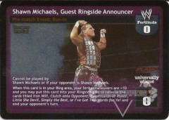 Shawn Michaels, Guest Ringside Announcer
