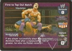First to Tap Out Match - SS2