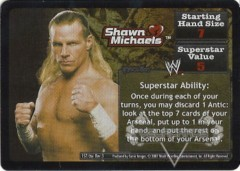 <i>Revolution</i> Shawn Michaels Superstar Card