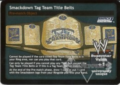 Smackdown Tag Team Title Belts