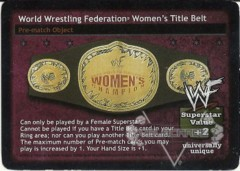 World Wrestling Federation Women's Title Belt