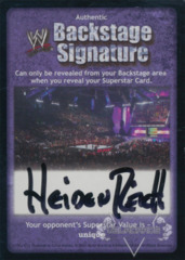 WWE Backstage Signature - Heidenreich