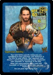 Seth Rollins Superstar Card - VSS (2)