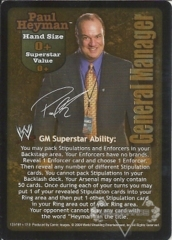Paul Heyman Superstar Card