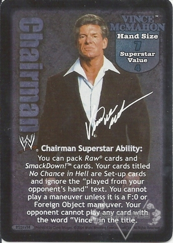 Vince McMahon Superstar Card