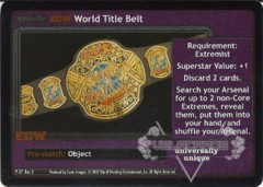 <i>Revolution</i> ECW World Title Belt