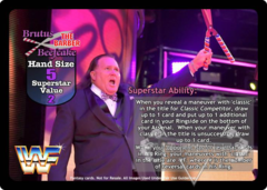 Brutus The Barber Beefcake Superstar Card (PROMO)