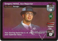 Gregory Helms, Ace Reporter