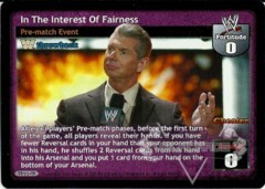In The Interest Of Fairness (TB)