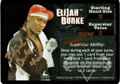 <i>Revolution</i> Elijah Burke Superstar Card - Signed by Elijah Burke