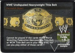 WWE Undisputed Heavyweight Title Belt