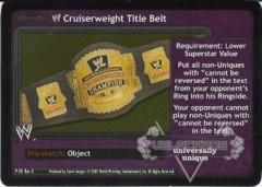 <i>Revolution</i> WWE Cruiserweight Title Belt