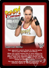 Ronda Rousey Superstar Card (Dual-sided)