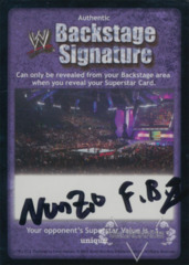 WWE Backstage Signature - Nunzio