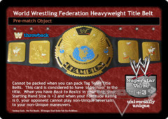 World Wrestling Federation Heavyweight Title Belt (TB)