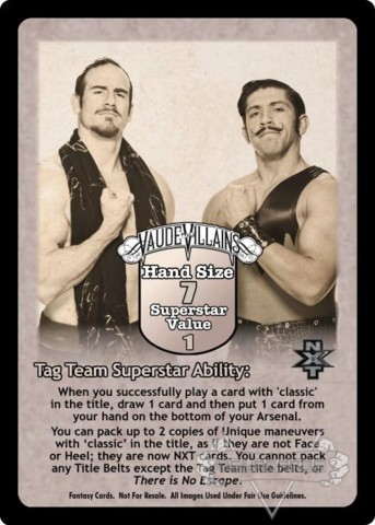 The Vaudevillains Superstar Card