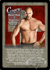 Cesaro Superstar Card (Dual-sided)