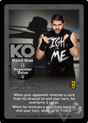 Kevin Owens Superstar Card (Dual-sided)