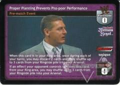 Proper Planning Prevents Piss-poor Performance