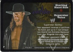 <i>Revolution</i> Undertaker Superstar Card