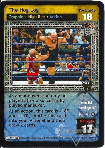 the hog log wwe raw deal superstars big show velacards
