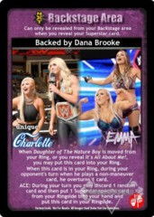 Backed by Dana Brooke
