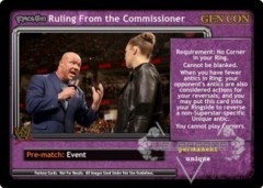 <i>Revolution</i> Ruling From the Commissioner - GenCon