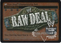WWE Raw Deal Championship Belt