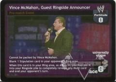 Vince McMahon, Guest Ringside Announcer