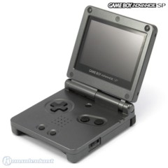 Black Graphite Gameboy Advance SP AGS 101 System