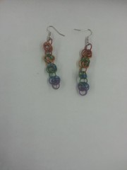 Chainmail Earrings - Multicoloured
