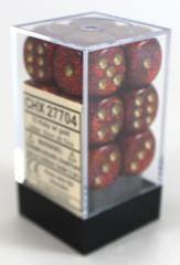 Chessex Glitter Ruby Red/Gold - CHX27704