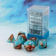 Chessex Gemini Copper-Turquoise/white - CHX30019