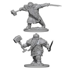 Dungeons And Dragons: Nolzur's Marvelous Unpainted Miniatures - Dwarf Fighter (Male)