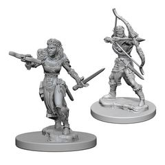 Dungeons And Dragons: Nolzur's Marvelous Unpainted Miniatures - Elf Ranger (Female)