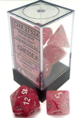 Ghostly Glow 7 Dice set (CHX27524) - Pink / Silver