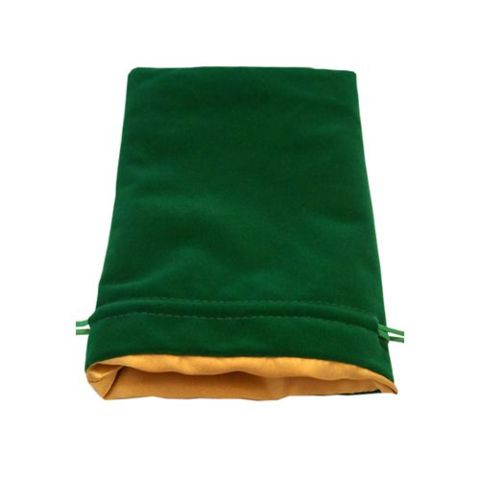 MDG - Large Green Velvet w/ Gold Satin Lining - Dice Bag