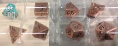 Solid Metal Copper Color Polyhedral 7-Set (CHX27024)